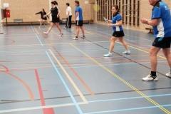 Badminton in de sporthal